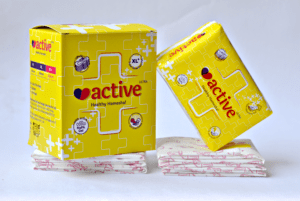 Active ultra sanitary napkins