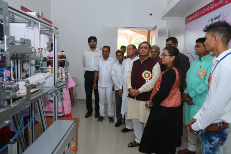 sanitary napkin making machine inauguration