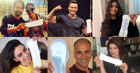 Sanitary Pads Promotions by Bollywood actors