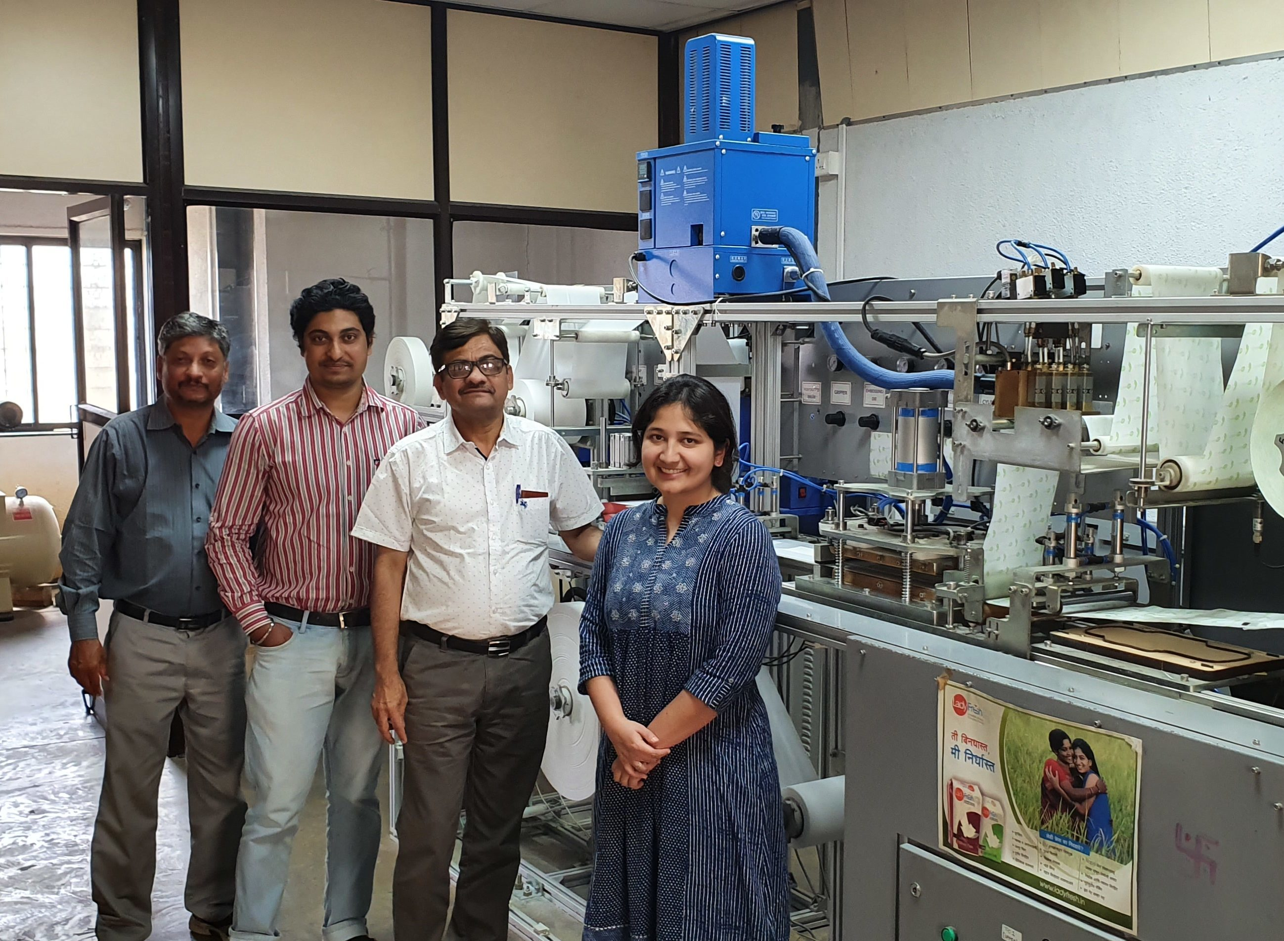 Sanitary napkin manufacturing unit in Pune