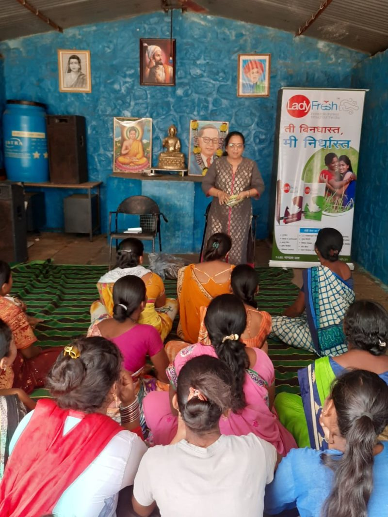 Menstrual Hygiene Awareness Session on how to use sanitary pads