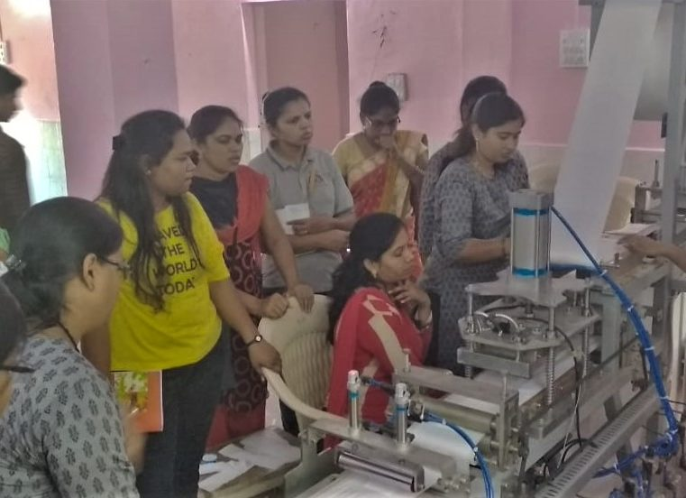 Anandwan sanitary napkin manufacturing machine, Chandrapur, MH start-up week