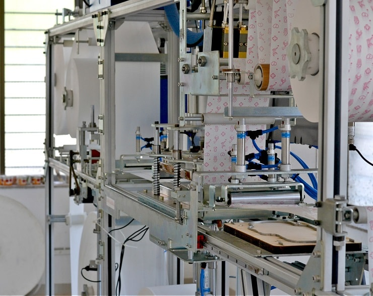 Semi Automatic Sanitary Pad making machine – SWACHH 1.2 - Saral Designs Machine