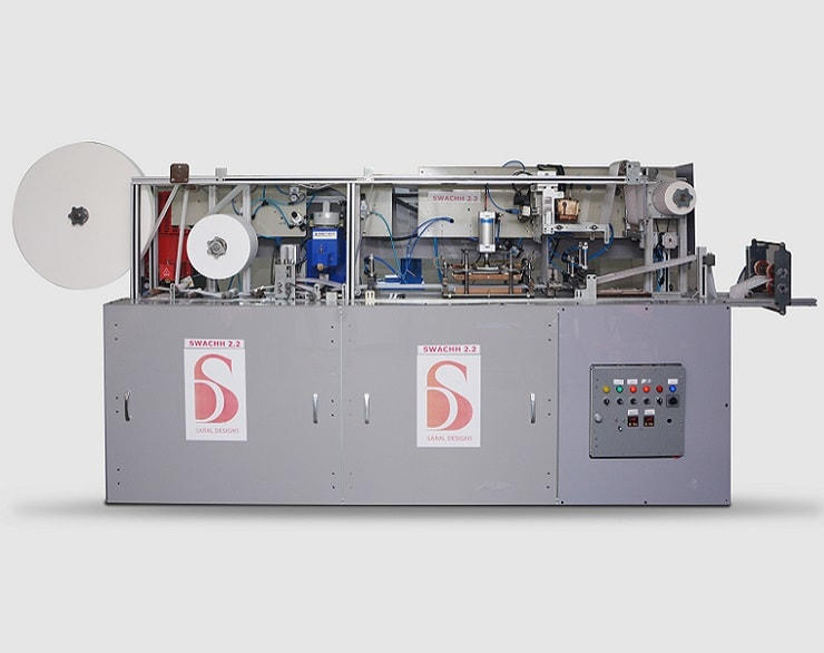 Automatic Sanitary Pad making machine – SWACHH 3.0 - Saral Designs Machines